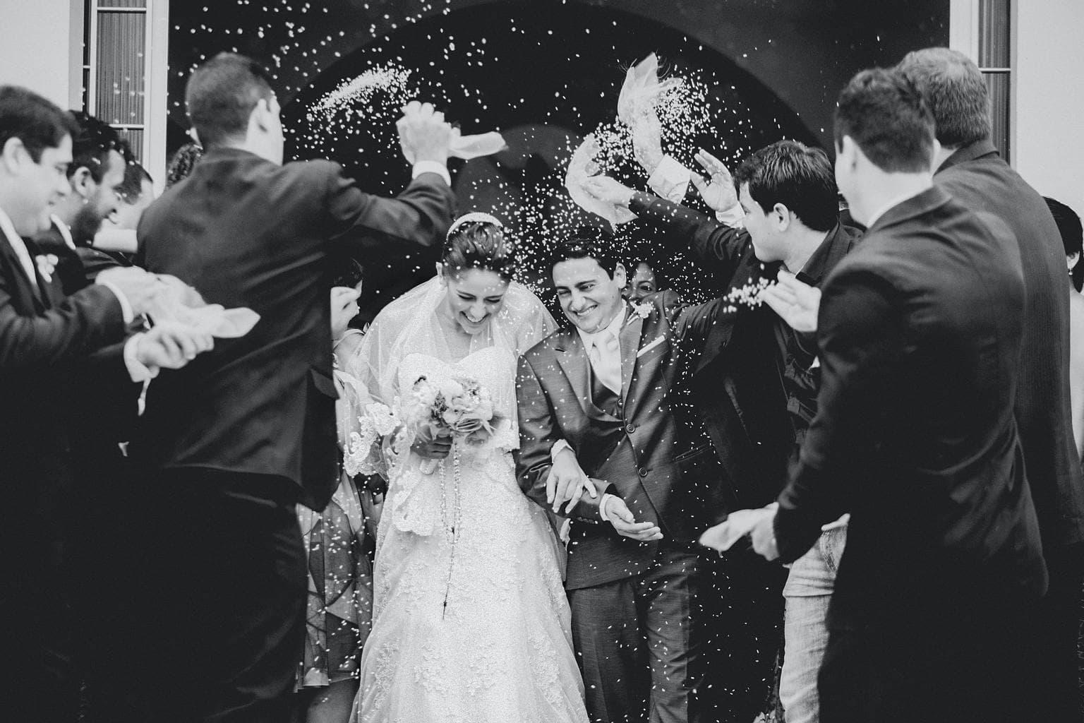 Fotografía de boda realizada con teleobjetivo