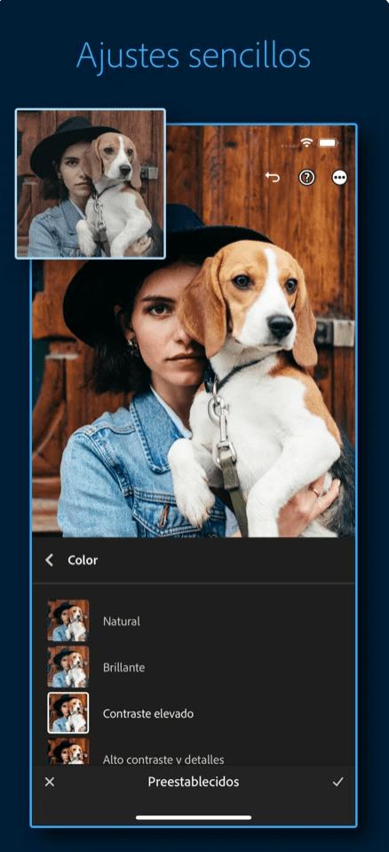 Adobe Lightroom app móvil
