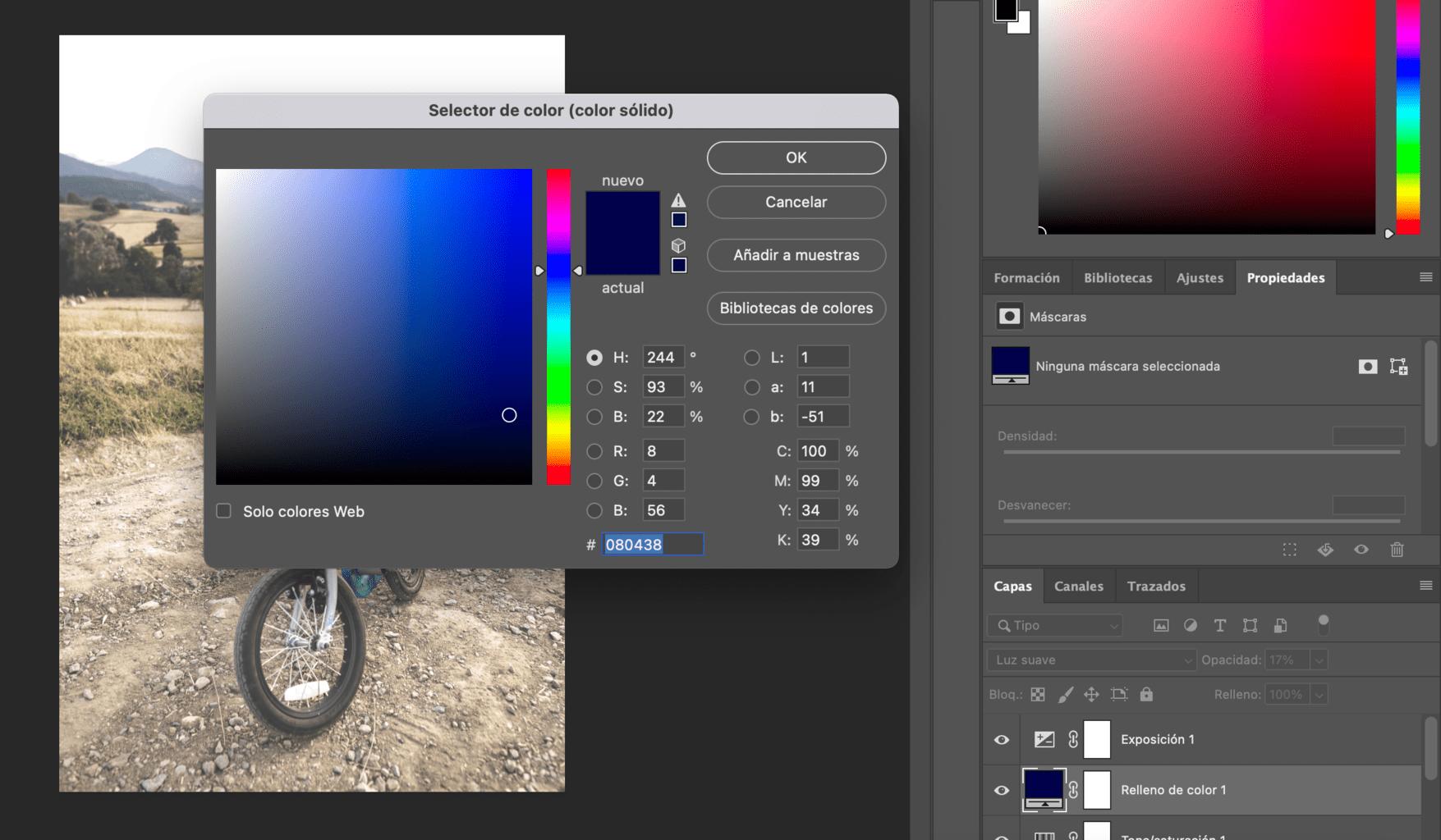 captura de Pantalla de último paso para crear efecto Gingham en Photoshop