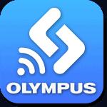 Logo de la aplicación de control remoto para móvil de Olympus