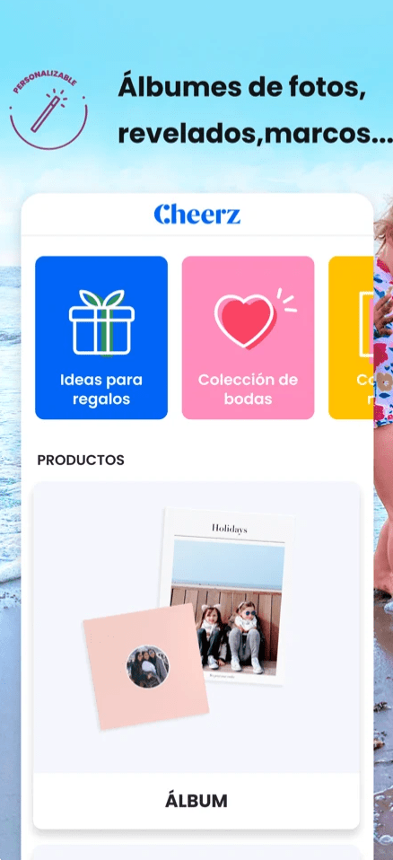 Cheerz vista de app