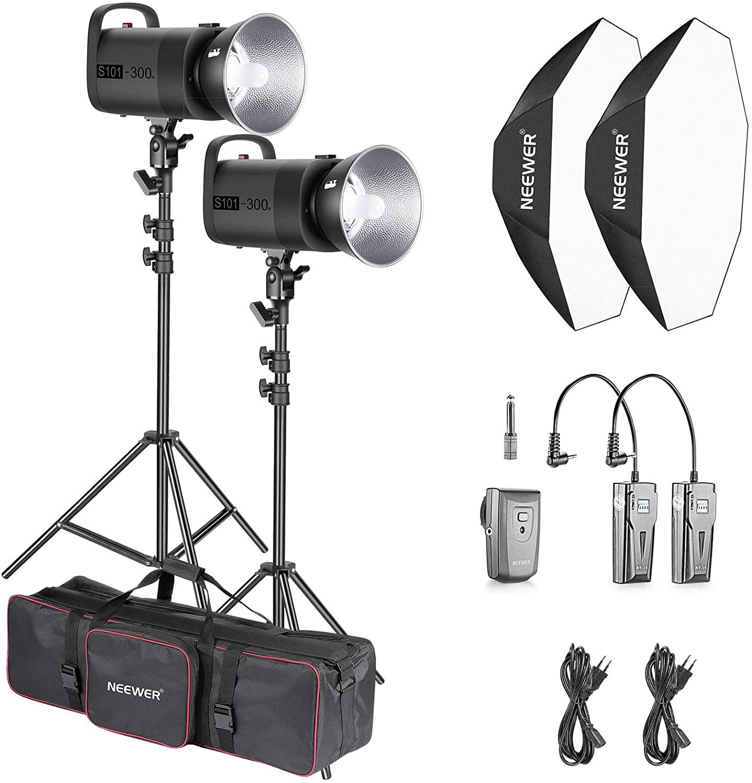 Kit de flash de estudio para iluminación