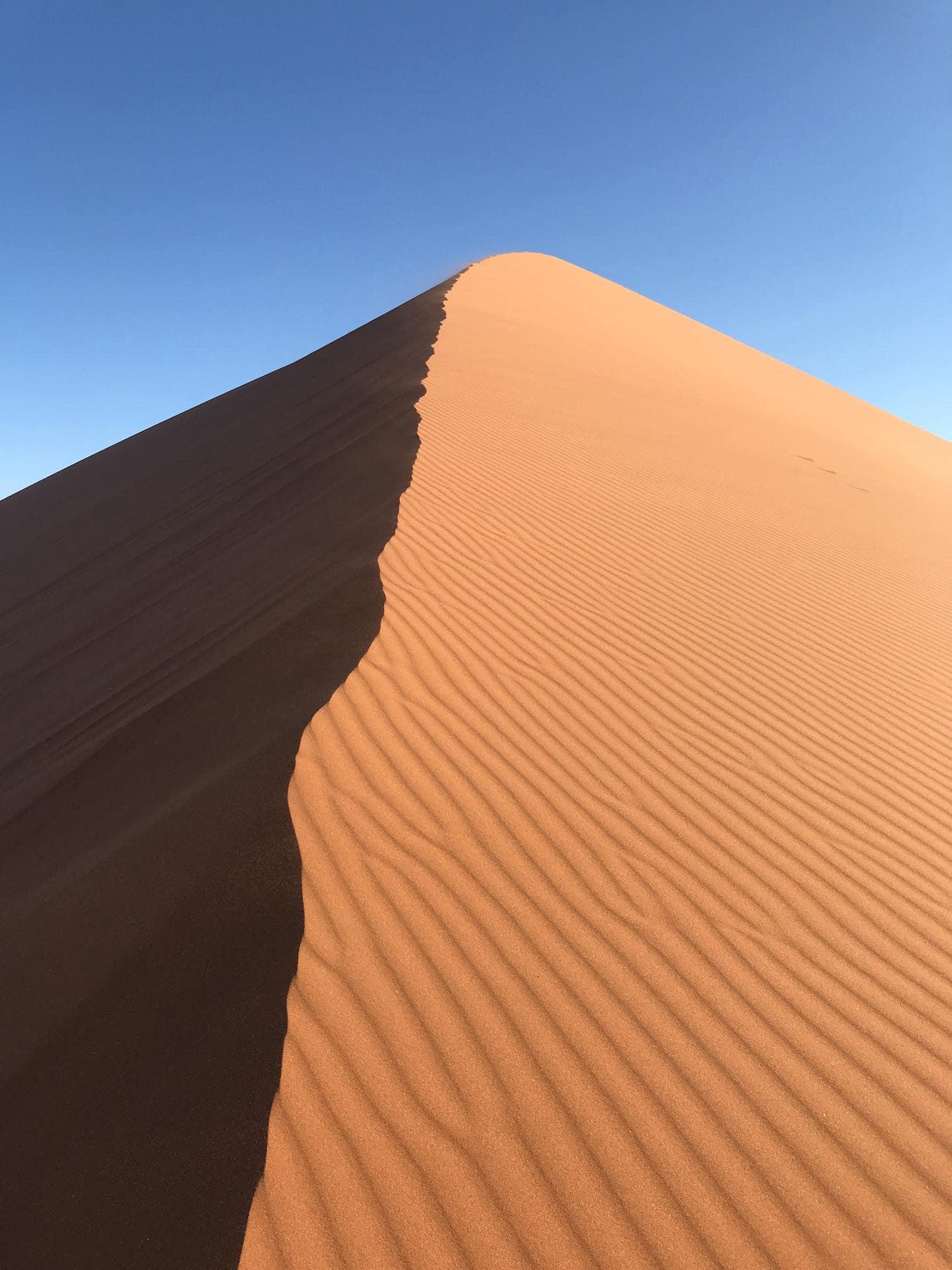 duna de arena con textura