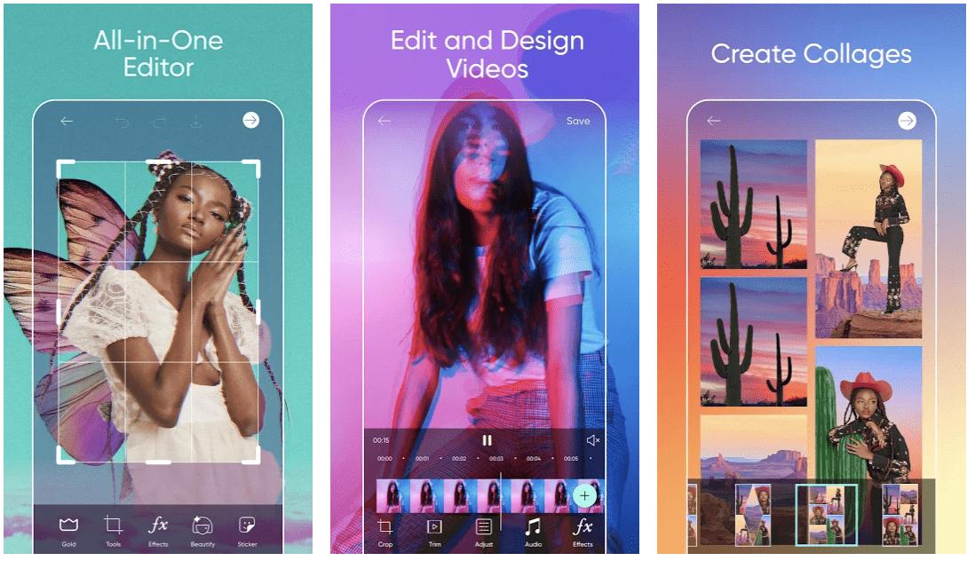 Picsart Photo Studio aplicación móvil