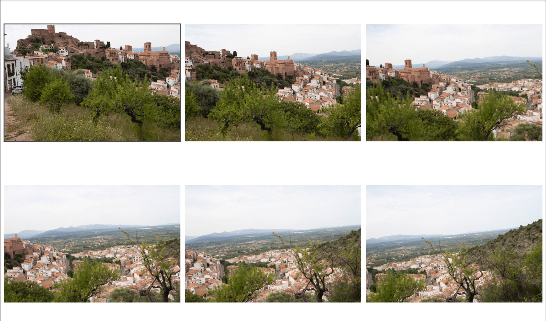 Secuencia de imágenes para montar una panorámica