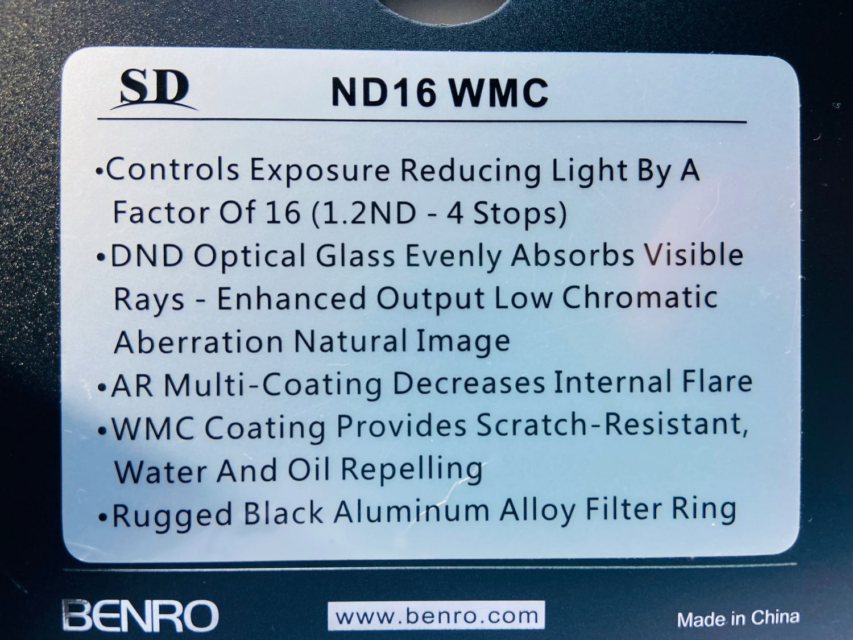 especificaciones filtro densidad neutra