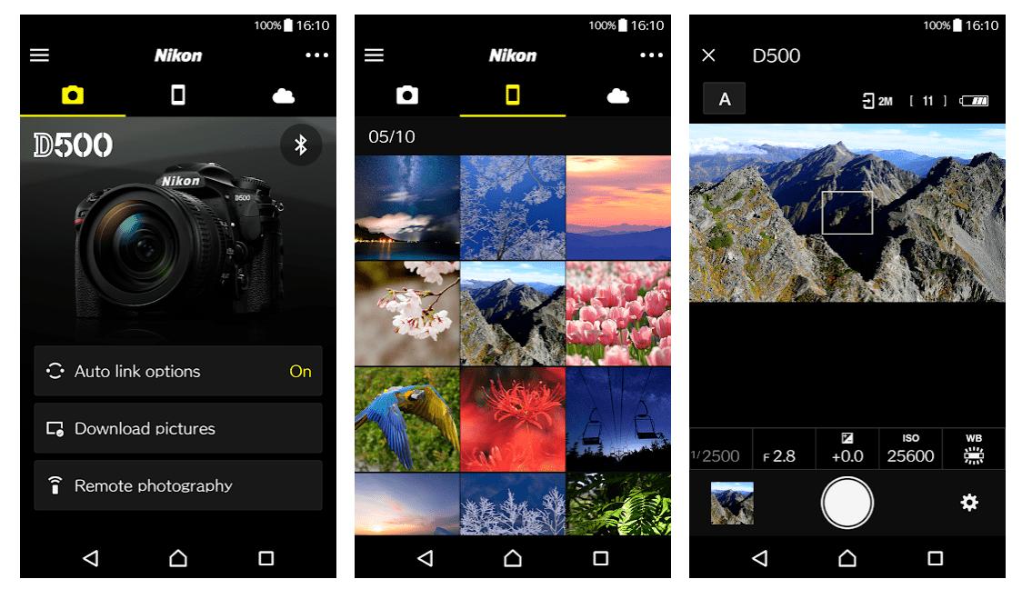 SnapBridge aplicación de Nikon para disparo en remoto