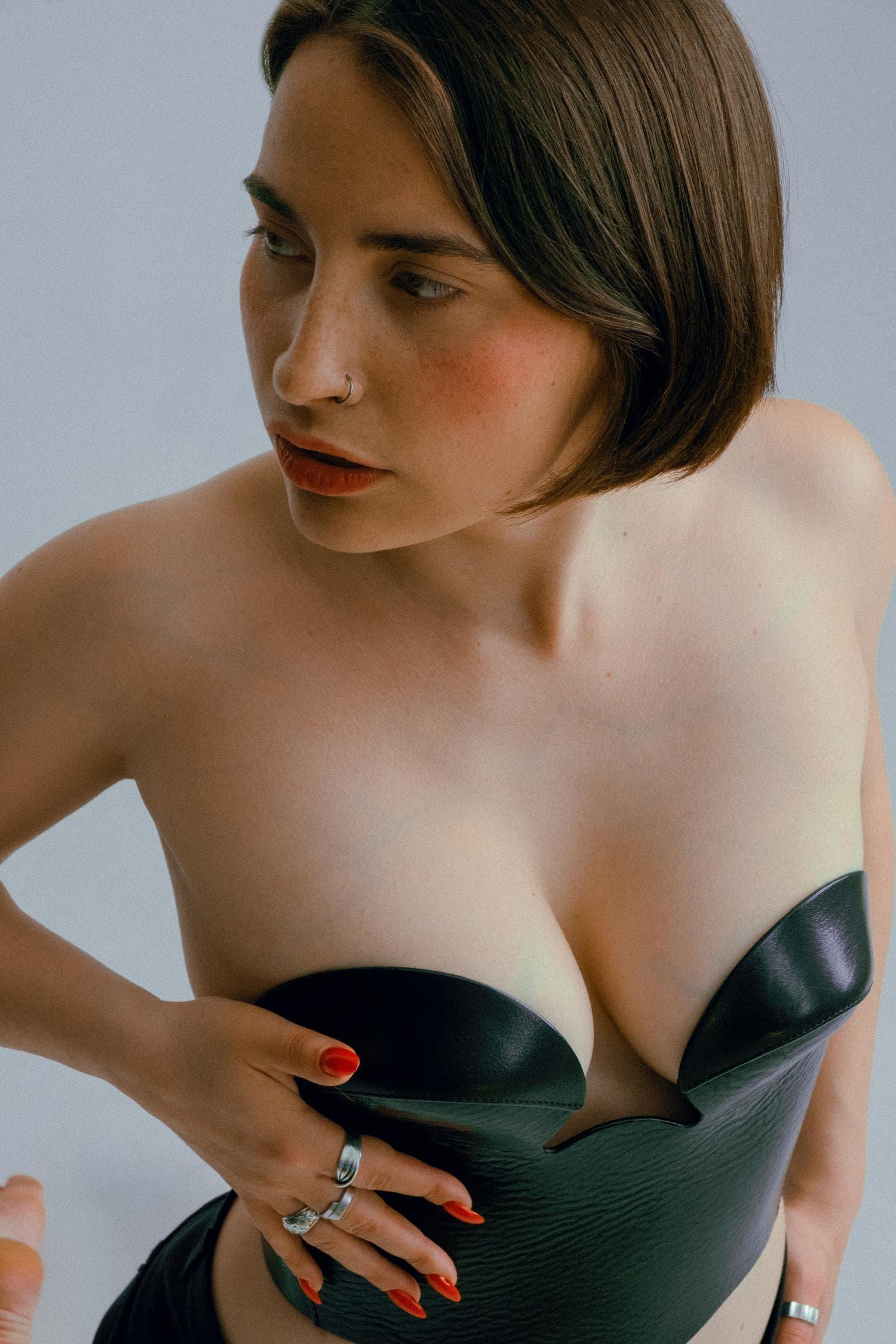 fotografia boudoir mujer corsé