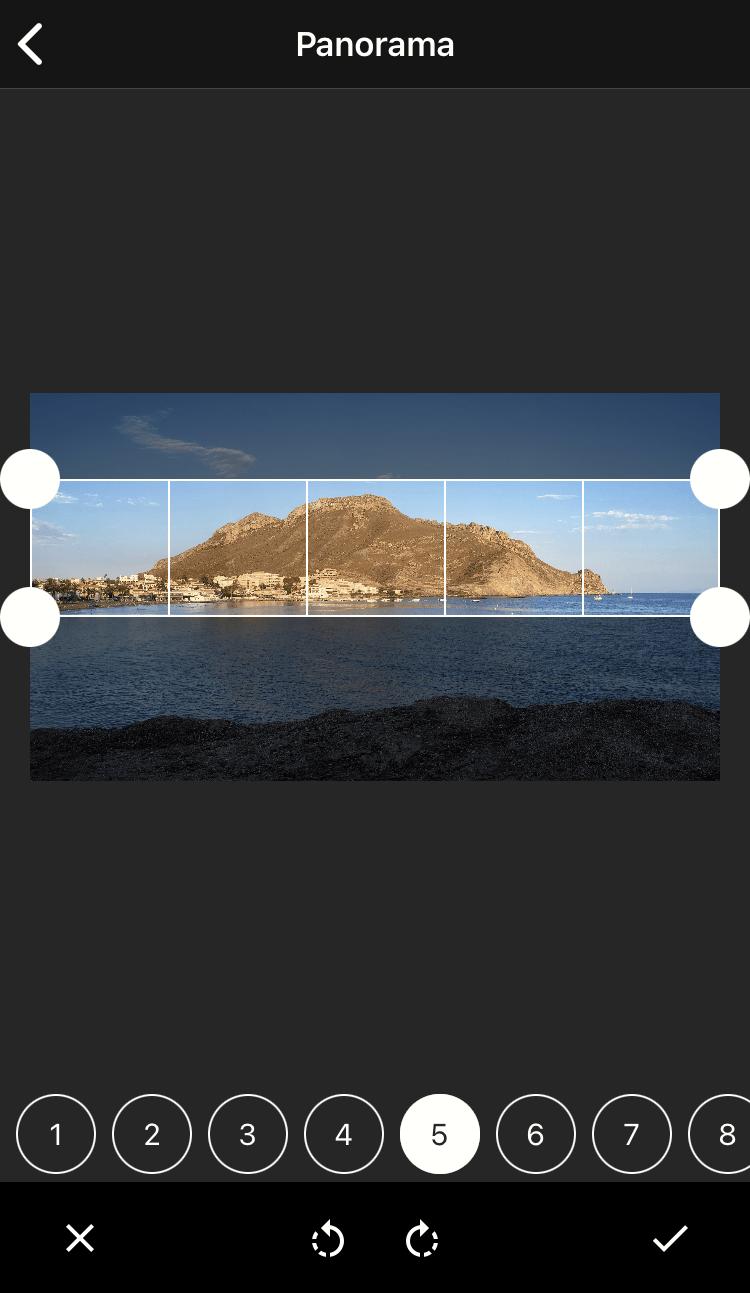 Captura de pantalla coolgram panorámica