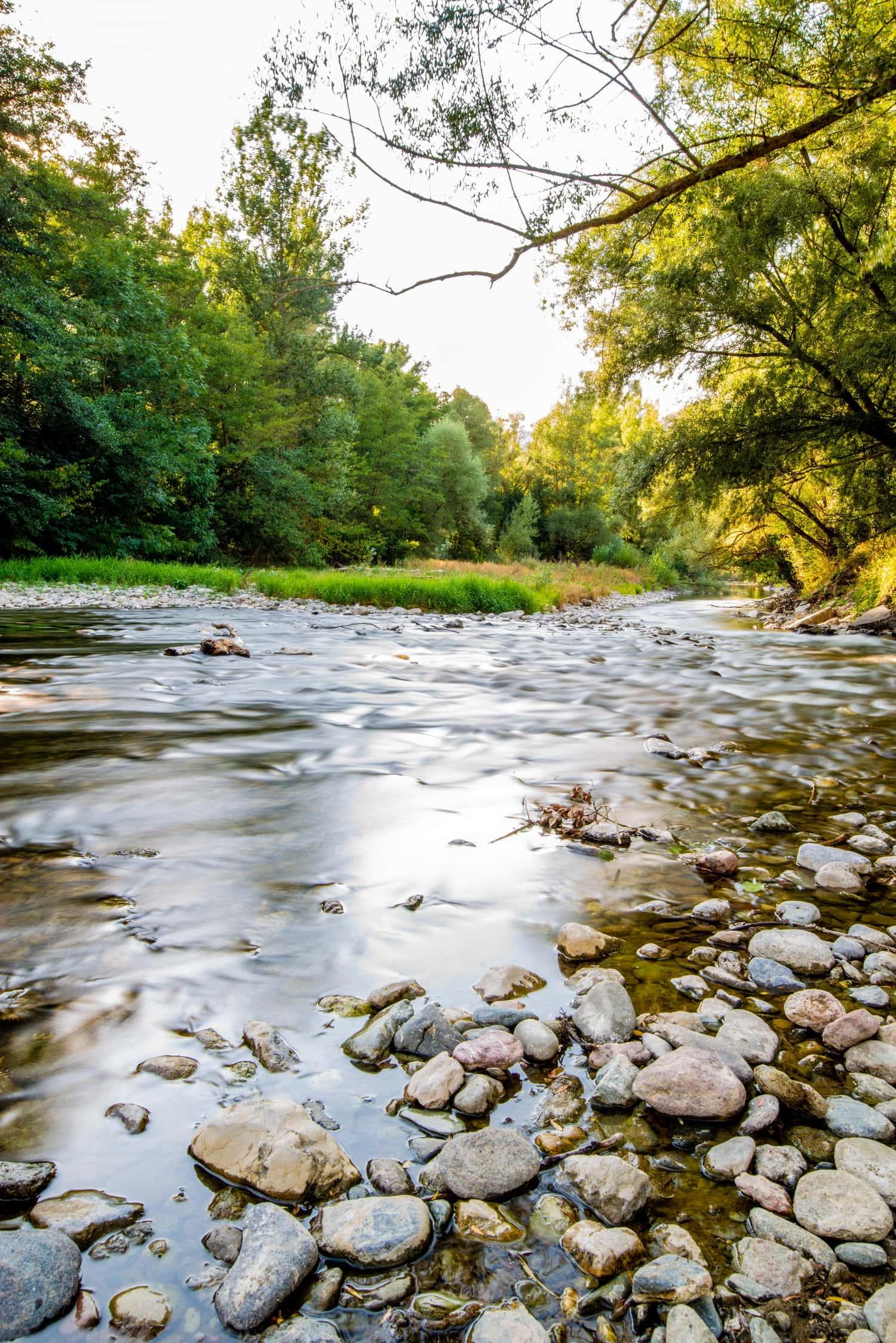 foto de río con filtro ND