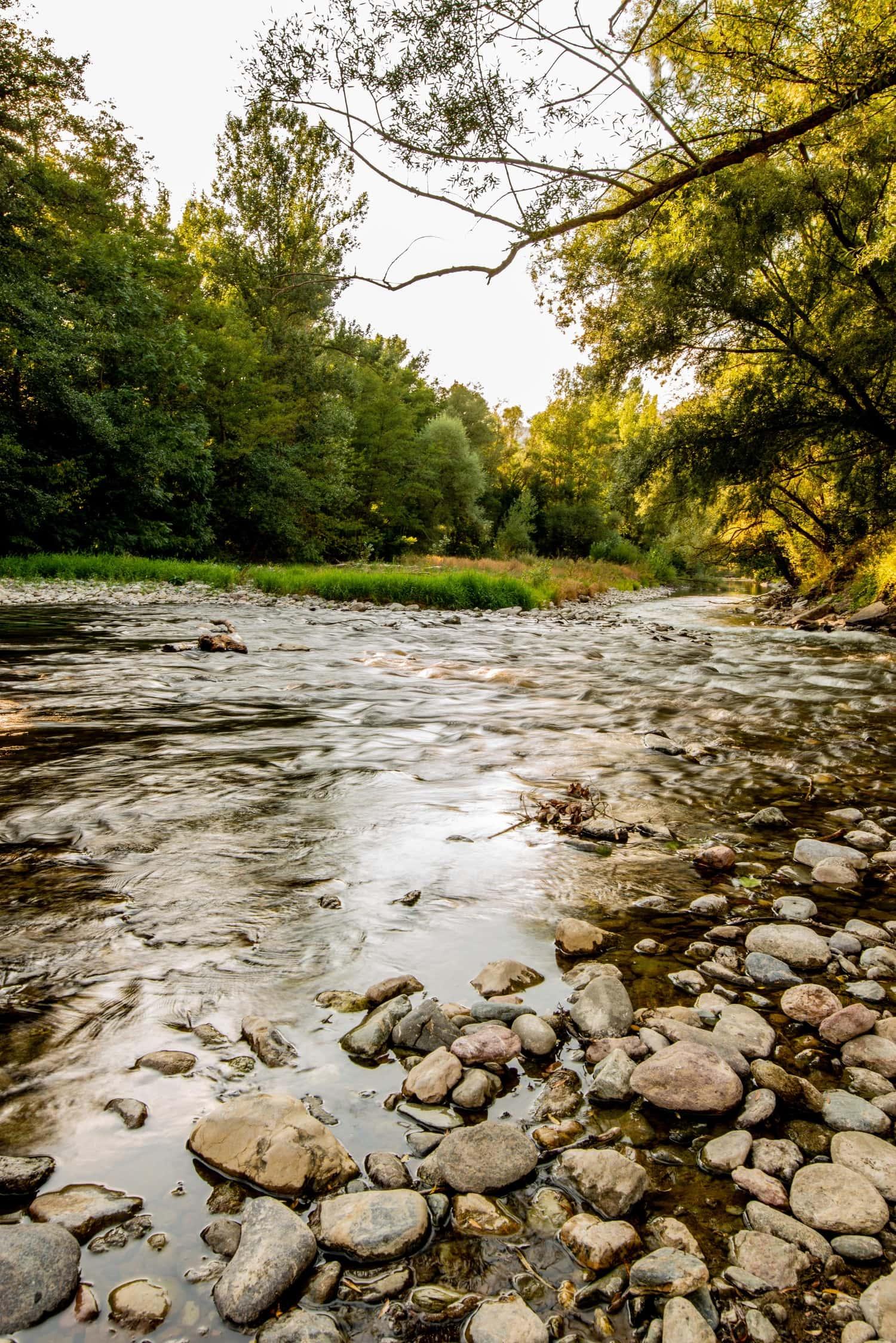 foto de río en larga exposición sin filtro ND
